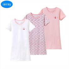 iairay 3pcs fashion girl cotton sleeping dress girls nightgown sleepwear pyjamas kids sleepwear children pajamas dressing gown недорого