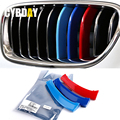 3D M Car Styling Front Grill Trim Strips Sticker For BMW E60 E90 3 4 5 GT X1 X3 X4 X5 X6 F10 F18 F30 F35 F48 F25 F26 F15 F16 F07