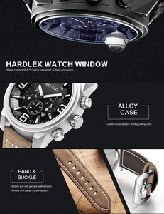 Image 2 - MEGIR Date Chronograph Wrist Watch Top Luxury Brand Mens Military Sport Army Clock Men Male Classic Quartz Watches Gift Box 3010