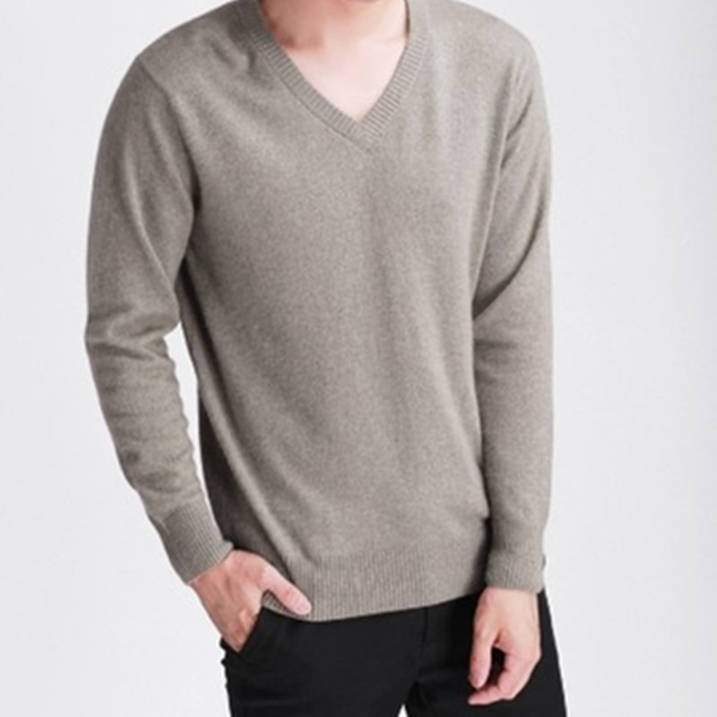 Man 39 s Cashmere Wool Sweaters JECH 2018 Spring Winter V Neck Long Sleeve Slim Pullovers High Quality Knitwear Plus Size S XXXL in Pullovers from Men 39 s Clothing