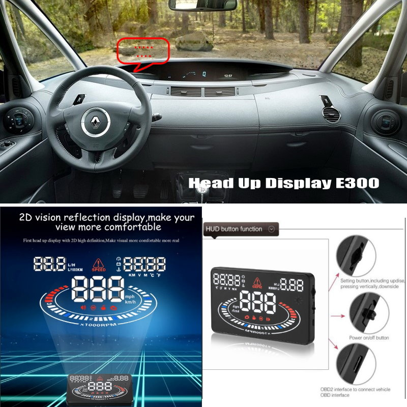 For Renault Espace 4 IV 2002-2014 - Car HUD Head Up Display - Reflect Related data on windshield offering a safer driving 1 18 otto renault espace ph 1 2000 1 car model reynolds