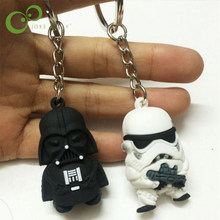 2pcs White Black Knight Darth Vader Stormtrooper Toy Figures dolls puppers with Key Children Kids Gifts GYH(China)