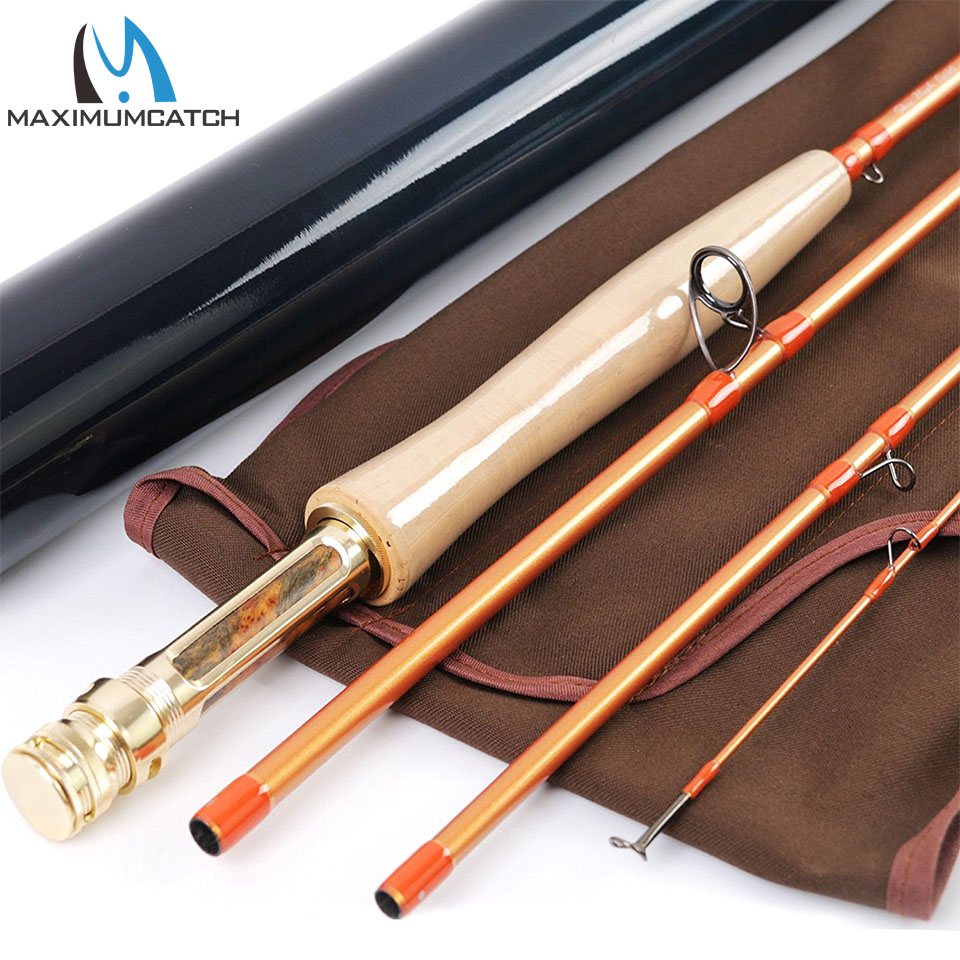 Maximumcatch Fly Rod IM12 40T + 46T Toray Carbon Super Light Sensitive Fast Action Fly Fishing Rod Dengan Tube Karbon 5/6 / 8WT 9FT