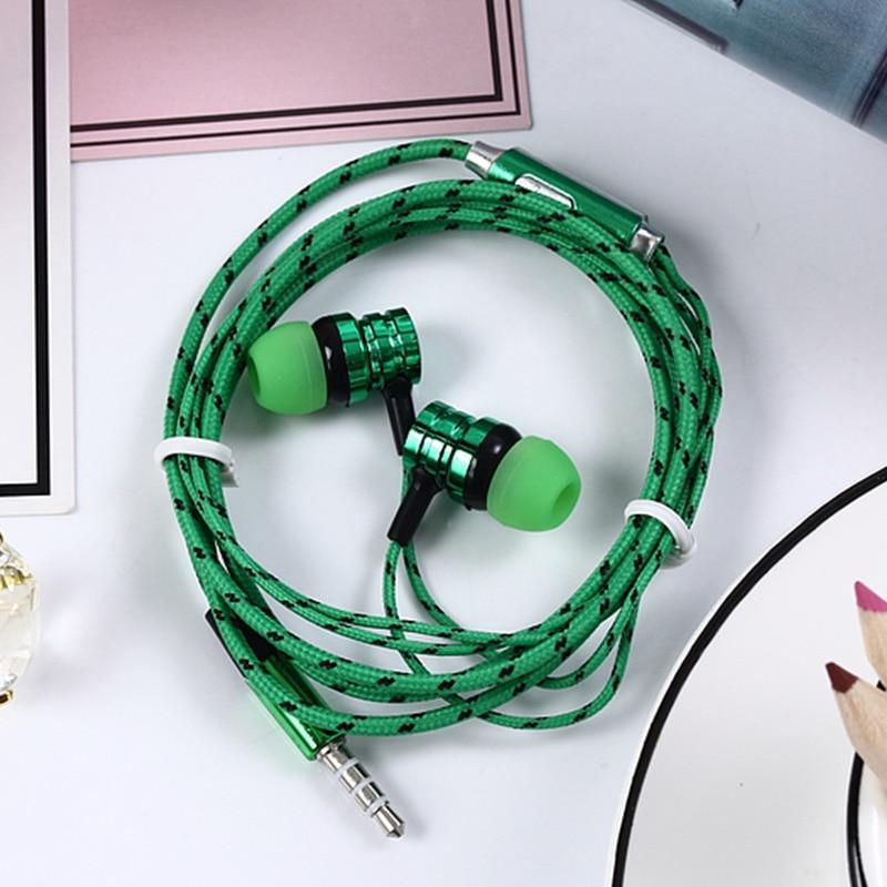 EKOSA In-ear Earphone For Xiaomi phone Auriculares Fone De Ouvido Hifi electroplating Braided Wire Earphones Audifonos Ecouteur