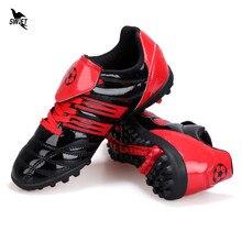 31-39 dzieci AG korki 2020 nowe chłopięce buty piłkarskie trawnik zewnętrzny Futsal sportowe trampki sportowe długie kolce Fotball korki