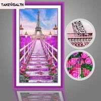 Special Shaped 5D diy diamond Painting Cross Stitch Diamond Embroidery landscape Paris Eiffel Tower Diamond mosaic wedding decor