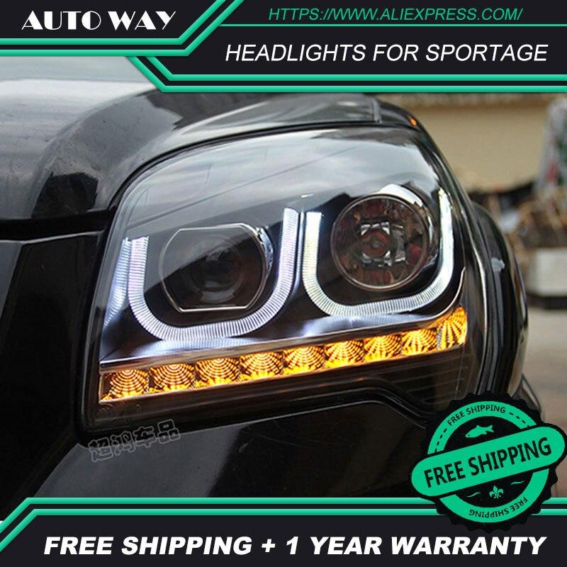 Car styling LED HID Rio LED headlights Head Lamp case for KIA Sportage headlights 2007 2013