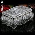 Rusia con cerradura joyero Princesa Europea estilo de Corea del anillo caja de joyería de alta gama no sólida caja de madera