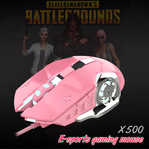 Image 4 - HXSJ New Professional USB Wired Gaming Mouse 6 Button 3200 DPI Optical Computer mechanical Mouse Gamer Pink Mice For PC