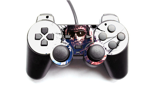 Hot Sale Vinyl Call of Duty Decal sticker For Sony Playstation 2 Wired Gamepad Controller for PS2 Joystick Skin Sticker