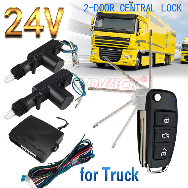23# FLIP KEY 24V Universal For Truck Remote Control Vehicle Keyless Entry  System 2 Door