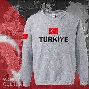 Image 2 - كنزة رياضية رجالية بغطاء للرأس موديل 2017 من تركيا ملابس خروج جديدة للهيب هوب سترات رياضية بعلم الأمة التركية من الصوف للأتراك TR