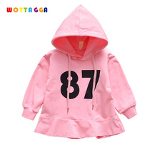 WOTTAGGA 2019 Girls Autumn Dress Baby Girl Clothes Vestidos Brand Kids Dresses for Girls Costume Numbers Children Princess Cloth