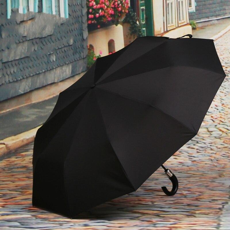 Large Automatic Umbrella for Men Windproof Rain Woman Golf Business Gift Male Umbrella Fully Auto Open Close Umbrella
