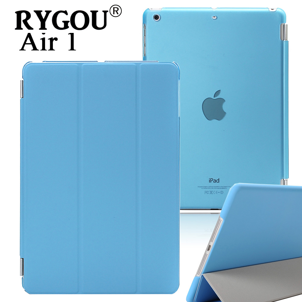 RYGOU Leather Case for iPad Air 1 Retina 2013, New Smart Cover Magnetic Auto Wake Up Sleep Flip Leather Shell For iPad Air Case rygou for ipad air 1 air 2 case wake up sleep function smart cover tablet pu leather case for flip cover ipad air 2 tablet
