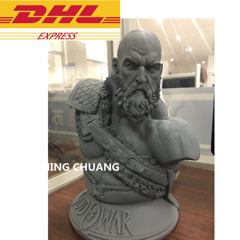 God Of War Statue Kratos 1:3 Ghost Of Sparta Bust Son Of Zeus Cratos Head Portrait Resin Action Figure Collectible Model Toy W18 kratos statue the son of zeus 1 1 life size bust god of war half length photo or portrait resin collectible model toy boxed