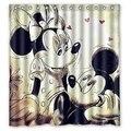 Cortinas de Ducha de baño de Mickey Mouse Amor 180x180 cm Ecológico Ducha Cortina de Tela Impermeable