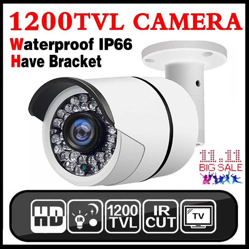 3.28 BigSale 1200TVL Cmos Hd Macchina Fotografica del Cctv Esterna Impermeabile ip66 IRCUT 36Led Video di Visione Notturna di sicurezza di monitoraggio video vidicon
