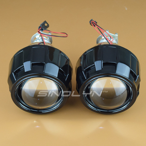 Image 4 - Sinolyn soczewki reflektorów projektor HID Bi soczewki ksenonowe 2.5 LHD/RHD pełny zestaw do modernizacji akcesoria do samochodu stylowy H7 H4 4300K 6000K 8000K