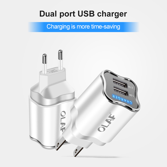 Universal LED Light Power 2 Ports USB Charger
