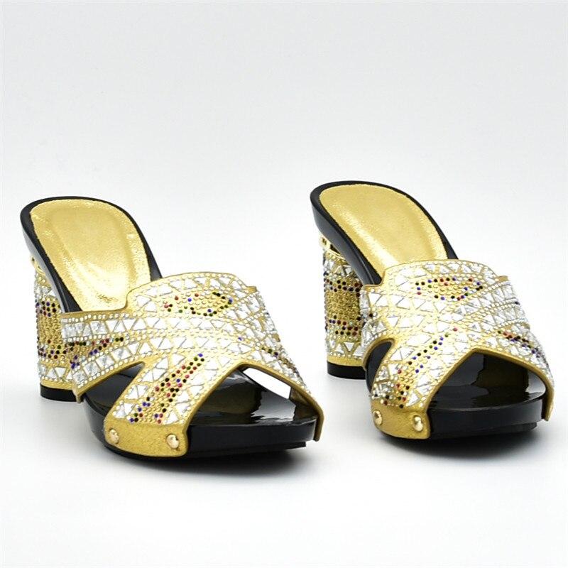 Llegada Rhinestone Juego oro fuchsia plata Mujeres En Italiano Azul Las A verde Cielo Con Decorado Ventas Partido Bolsa Zapatos Bolsos Nueva Señoras Set Y d7Rd8