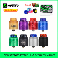 New Wotofo Profile RDA Atomizer 24mm Electronic Cigarette 60W For 510 Box Mod switch mesh and wire coils Vaporizer free Cotton