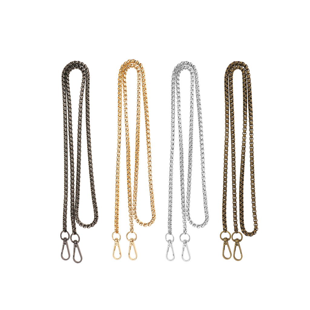 4 Pieces 120cm / 47 Inch Metal Bag Chain Strap Handmade Shoulder Bag Replacement Chain