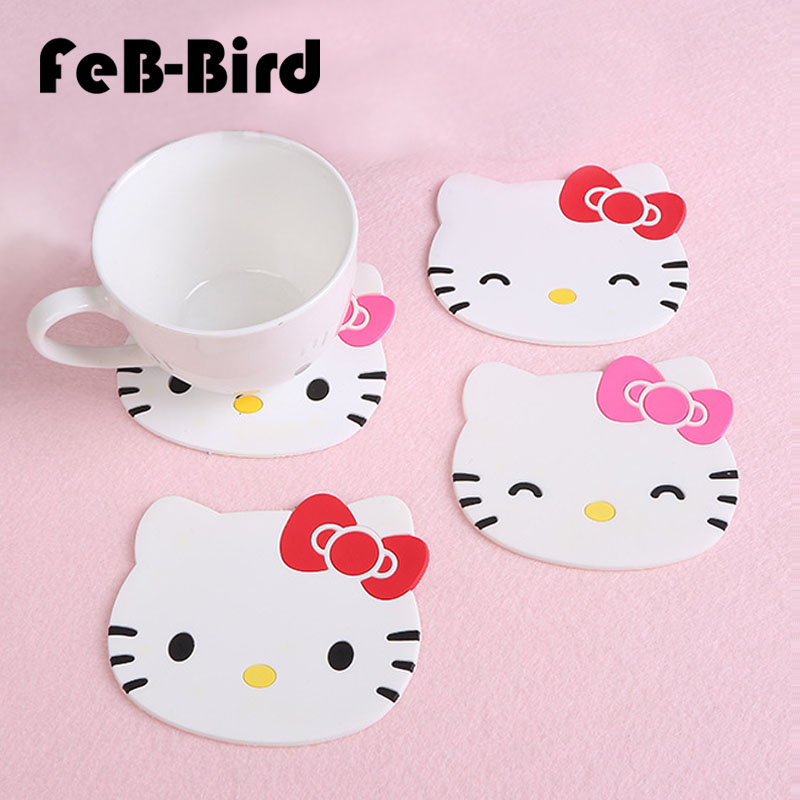 Hello Kitty Kitchen Accessories: 1 Pcs Silicone Dining Table Placemat Coaster Kitchen
