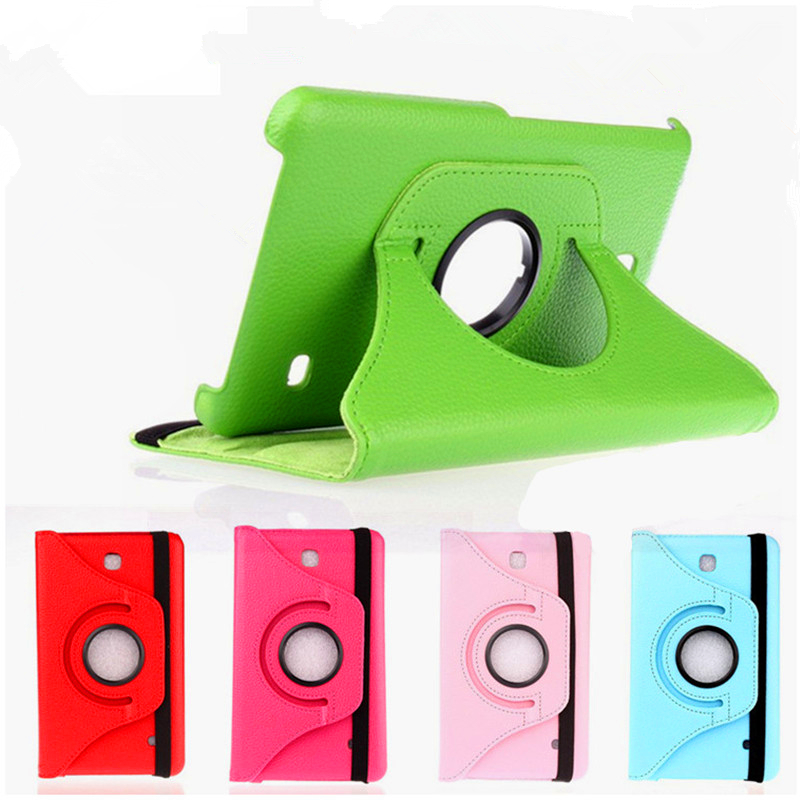 Tab 4 7.0 SM-T230 SM-T231 SM-T230 Tablet Cover 360 Rotating Flip PU Leather Case For Samsung Galaxy Tab 4 7.0 T230 T231 T235