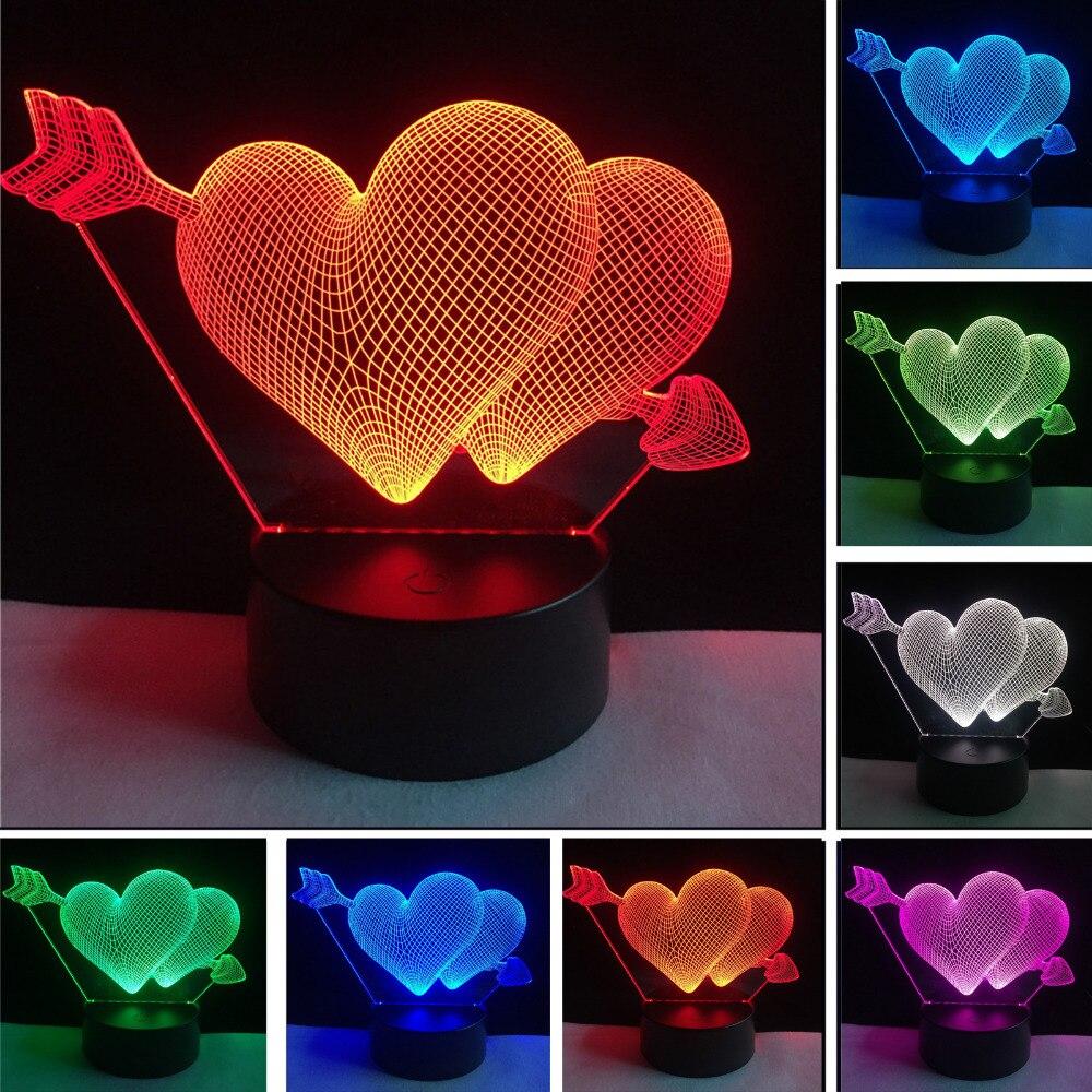 Luzes da Noite 3d lâmpada seta através do Fonte de Luz : Lâmpadas Led
