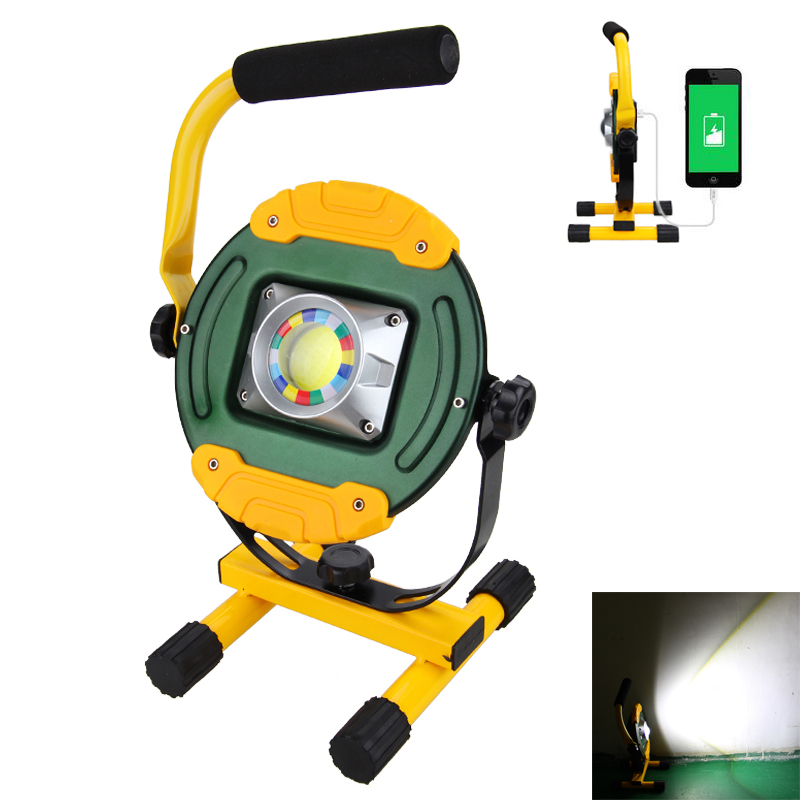 USB Rechargeable 30W COB LED Spotlight Camping Light Outdoor Floodlights with 3 pcs 18650 Battery