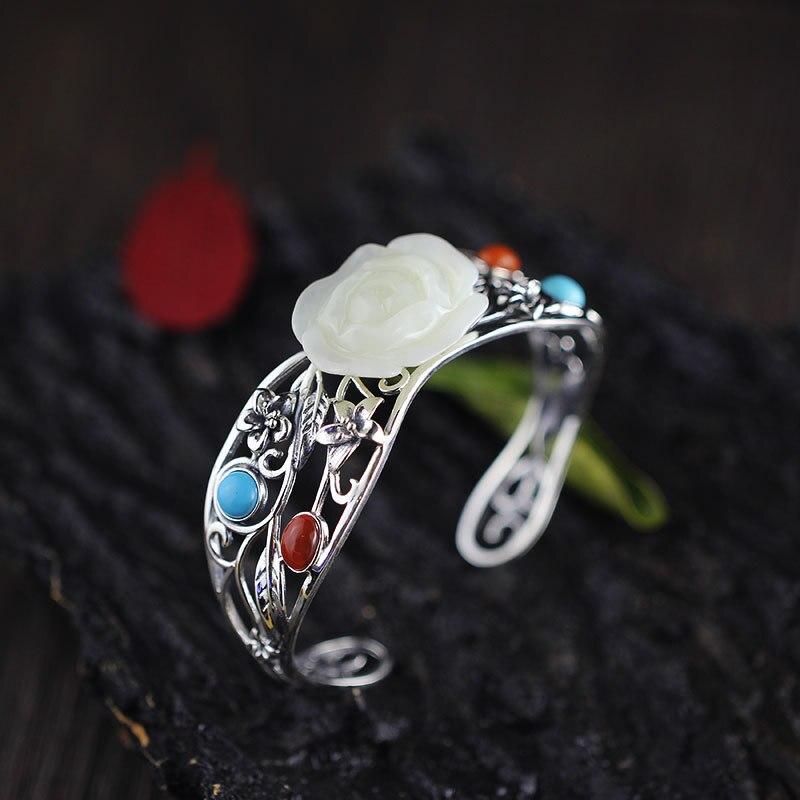 Здесь продается  2018 Armbanden Voor Vrouwen Items S925 Pure Ornaments Thai Handmade Certificates Of Ms Hetian Bracelet With Hollow Out Design   Ювелирные изделия и часы