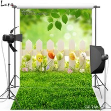 Happy Easter Vinyl Photography Background For Children Colorful Egg Lawn Oxford Backdrop For photo studio Props 248