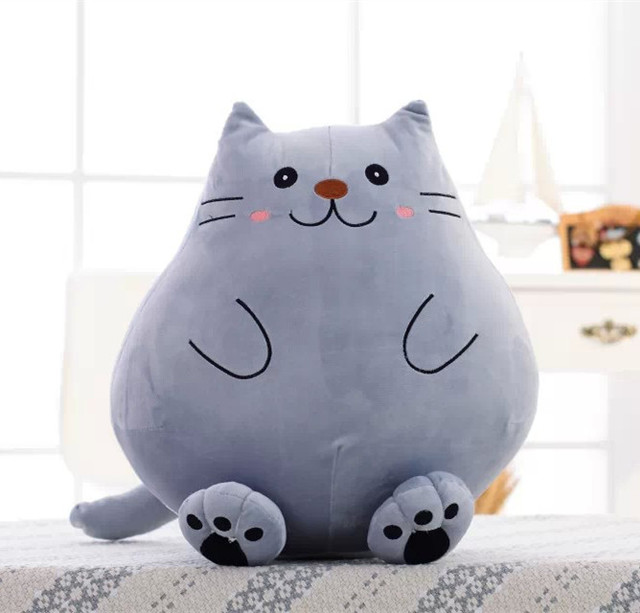 de07eee6f89 New Cute 42cm Big Fat Lazy Cat with Long tail Plush toy Lovely Cookies Cats  Soft