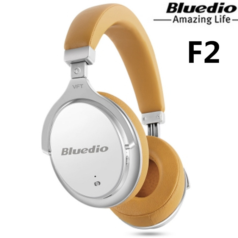 Bluedio F2 headphone headband Wireless Bluetooth Headphones Active Noise Cancelling Rotatable Over Ear Headphone Soft Ear Pad cat ear sequin headband