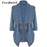 Free Ostrich Cardigan Women Elastic Winter Sweater Knitted Cardigan Female Coat Soft Casual Sweater Pull Outerwear