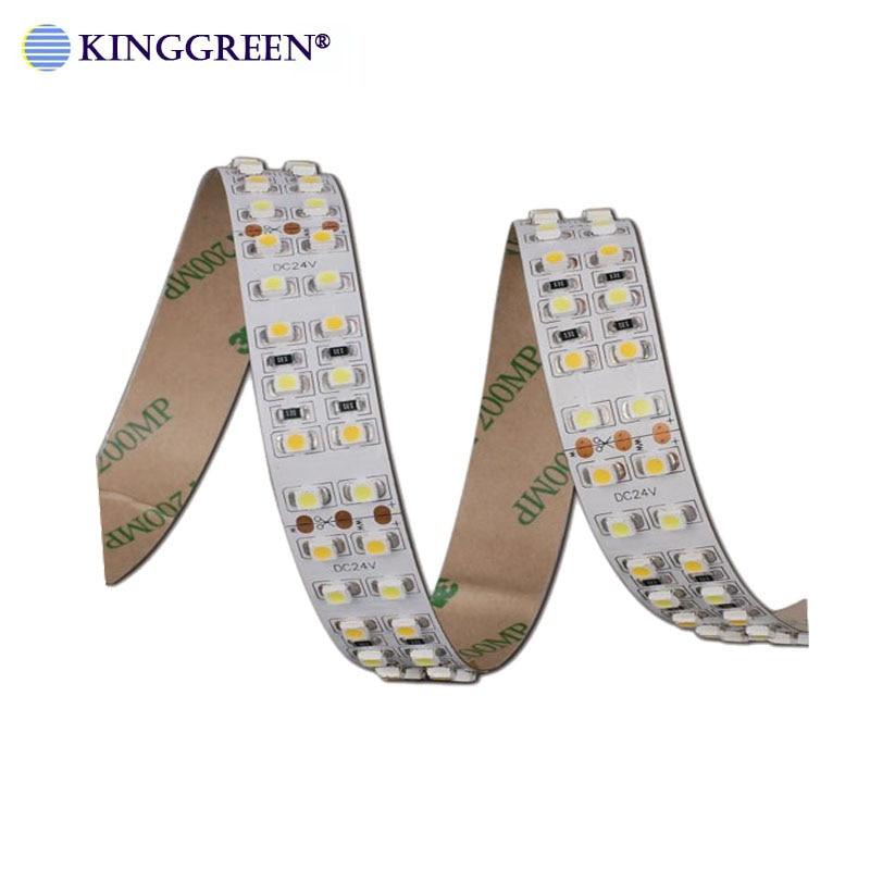 Image 3 - High CRI>90 3528 flexible color dimmable LED strip light DC24V 60 ,120, 240LED/m 3000K & 6000K CCT adjustable free shipping-in LED Strips from Lights & Lighting