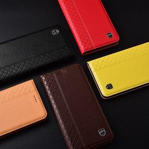 Image 5 - Huawei Mate 20 X przypadku, przerzuć futerał z prawdziwej skóry miękkiego silikonu tylna pokrywa dla Huawei Mate 20X Coque