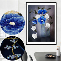 3D DIY Diamond Embroidery Flower Special Shaped 5D Diamond Painting Cross Stitch Floral Vase Diamond Mosaic