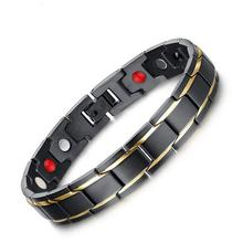 Titanium Healthy Magnet Bracelets Men Jewelry Newest Bio Energy Bracelets Bangles Fashion Magnetotherapy Bracelet Bangle Y4
