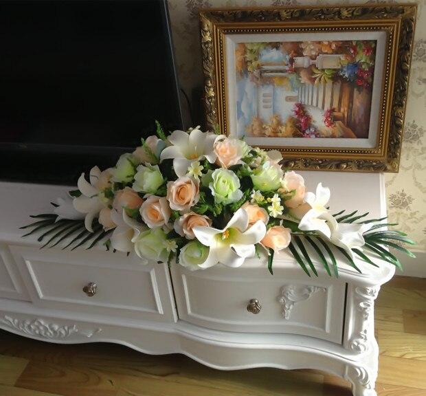 Ems freies verschiffen künstliche rose lilie weiß champagner hause ...