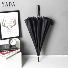 YADA Long Large Golf Automatic Umbrella For Men Women Strong Rainproof Protection Parasol Rain Sun Business Mens YD072