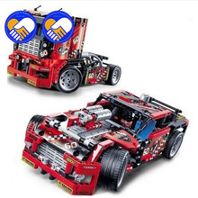 A toy A dream 608pcs Race Truck Car 2 In 1 Transformable Model Building Block Sets Decool 3360 DIY Toys Compatible Technic 42041(China)