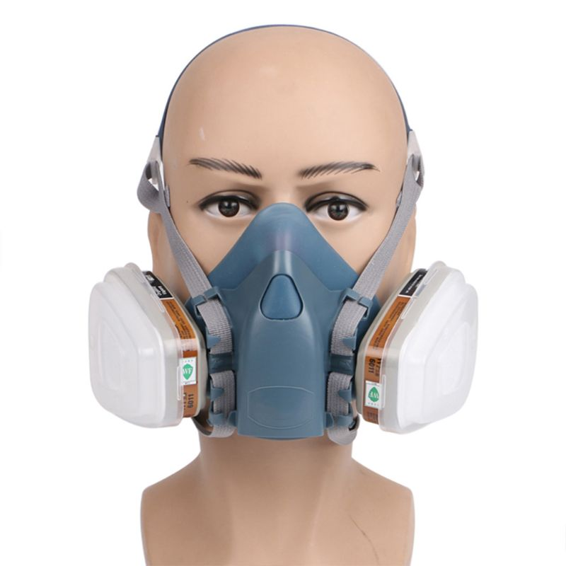 1Set Dust Gas Mask Full Face Respirator for Industrial Refine Mine Spray Chemical Smoke Fire Protection1Set Dust Gas Mask Full Face Respirator for Industrial Refine Mine Spray Chemical Smoke Fire Protection