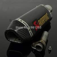 Super Performance Universal Motorcycle Modified Scooter Akrapovic Exhaust Muffle Pipe GY6 CBR125 CBR250 CB400 CB600 YZF