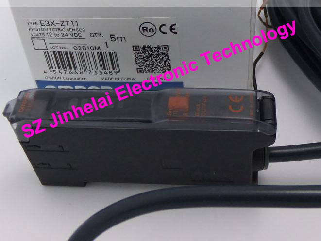 100% New and original  E3X-ZT11, E3X-HD11  OMRON Photoelectric switch  12-24VDC   2M new and original e3z b61 e3z b62 omron photoelectric switch photoelectric sensor 2m 12 24vdc