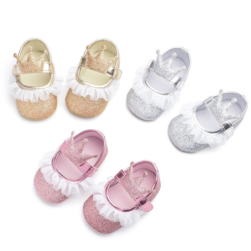 First-Walkers Footwear Crib-Shoes Soft-Sole Anti-Slip Newborn Infant Baby-Girls Princess