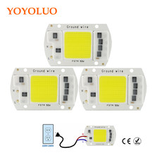Led Cob Chip frijoles AC 220 V 230 V Led Bombilla 20 W 30 W 50 W Chip SMD lámpara con Smart IC Drive DIY Blanco/blanco cálido al aire libre proyector(China)