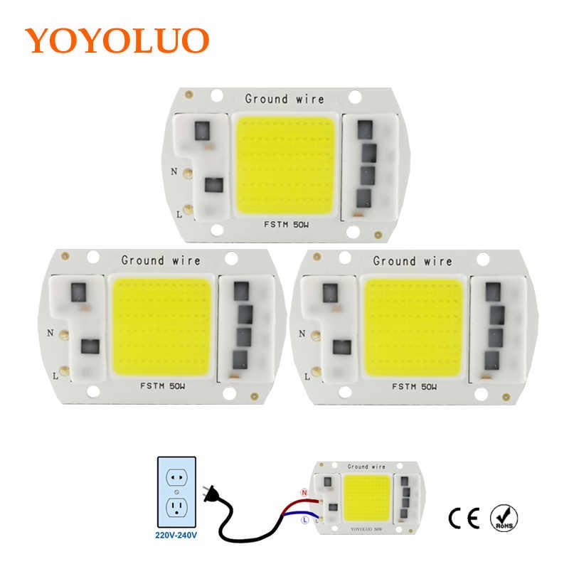 Led Cob Chip Bohnen AC 220V 230V Led-lampe 20W 30W 50W SMD Chip Lampe mit Smart IC Stick DIY Weiß/Warmweiß Outdoor Scheinwerfer
