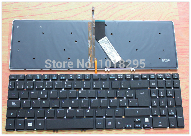 Spain Laptop Keyboard For Acer Aspire VN7-571 VN7-571G VN7-591G V5-552 V5-552G V5-552P V5-552PG V5-573 V5-573G Backlight SP 14 touch glass screen digitizer lcd panel display assembly panel for acer aspire v5 471 v5 471p v5 471pg v5 431p v5 431pg